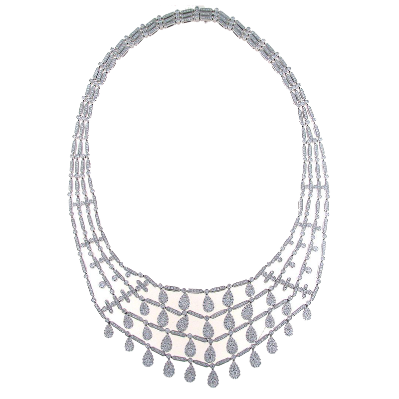 Roberto Coin 18Kt Gold Diamond Bib Necklace