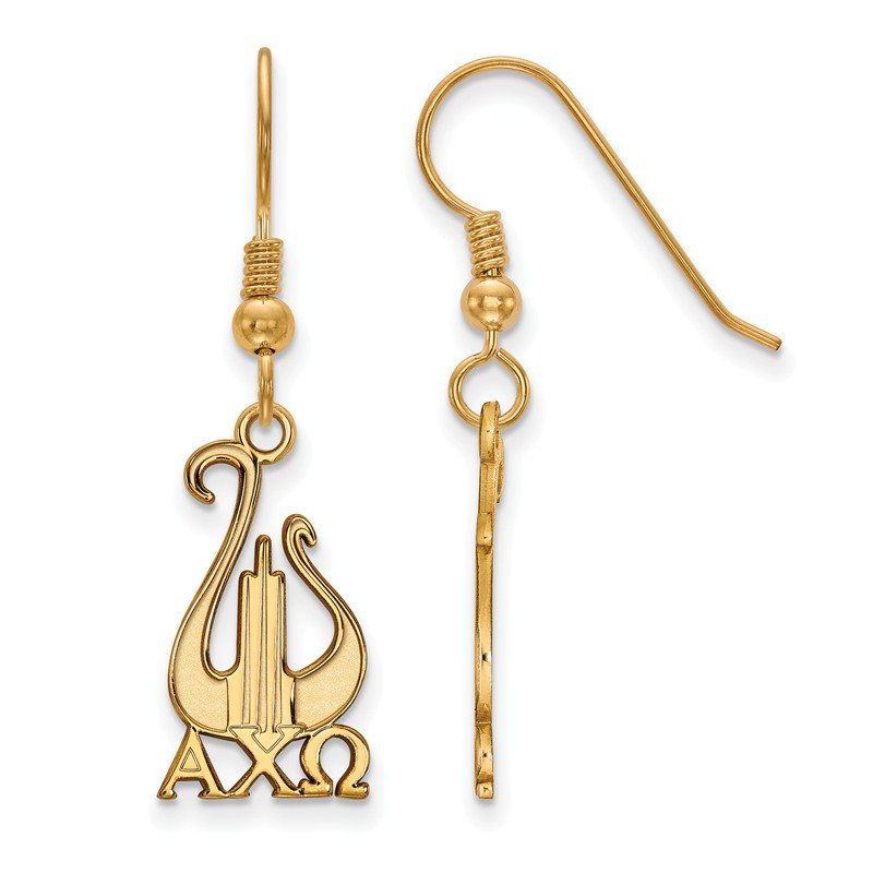 Greek Life Gold-Plated Sterling Silver Alpha Chi Omega Greek Life Earrings
