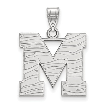 Sterling Silver University of Memphis NCAA Pendant