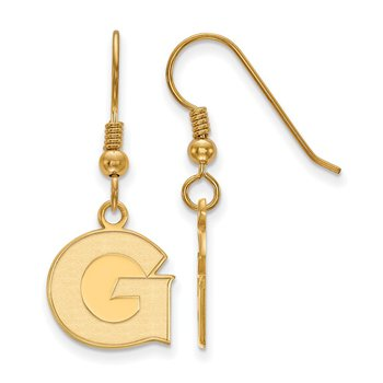 Gold-Plated Sterling Silver Georgetown University NCAA Earrings