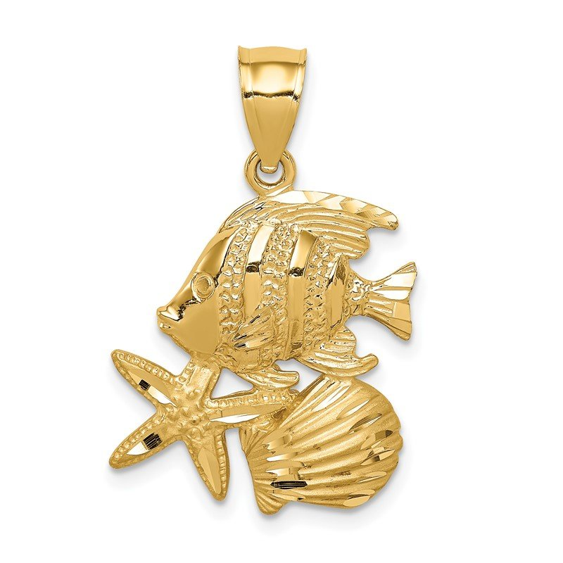 Quality Gold 14K D/C Sea Life Pendant