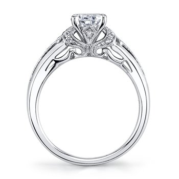 MARS 25865 Diamond Engagement Ring 0.10 Ctw.