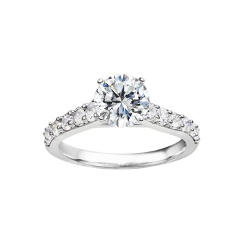 Round Cut Classic Diamond Engagement Ring