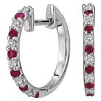 Tesoro Diamond and Gemstone Hoop Earrings