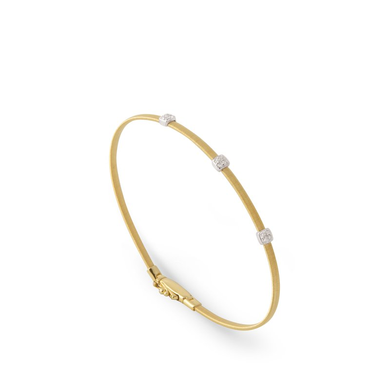 Marco Bicego Masai Small Three Station Diamond Bracelet in Yellow Gold