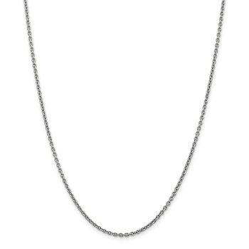 Leslie's 14K White Gold 1.95 mm Round Cable Chain