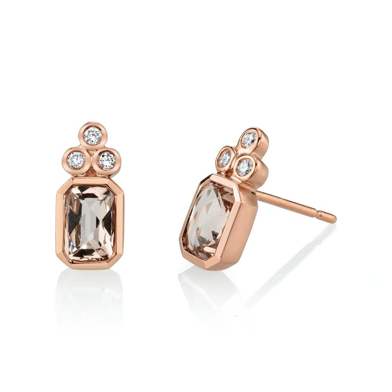 MARS Jewelry MARS 27240 Stud Earrings, 0.10 Dia, 1.71 Morganite