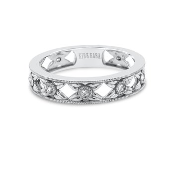 Kirk Kara 18K White Gold Diamond Floral Band