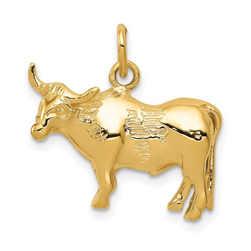 Quality Gold 14k Steer Pendant