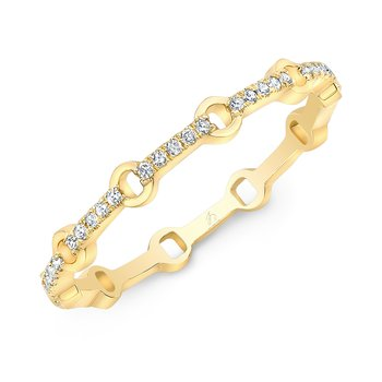 Yellow Gold Micro Link Stackable Band