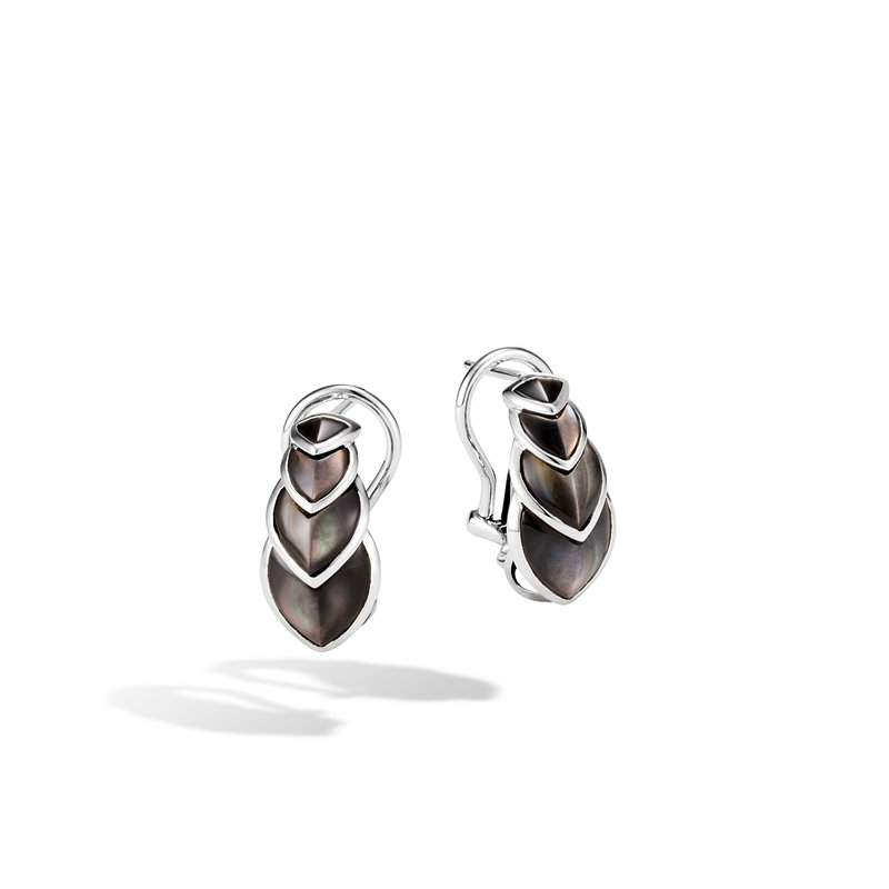 JOHN HARDY Legends Naga Buddha Belly Earring in Silver with Gemstone