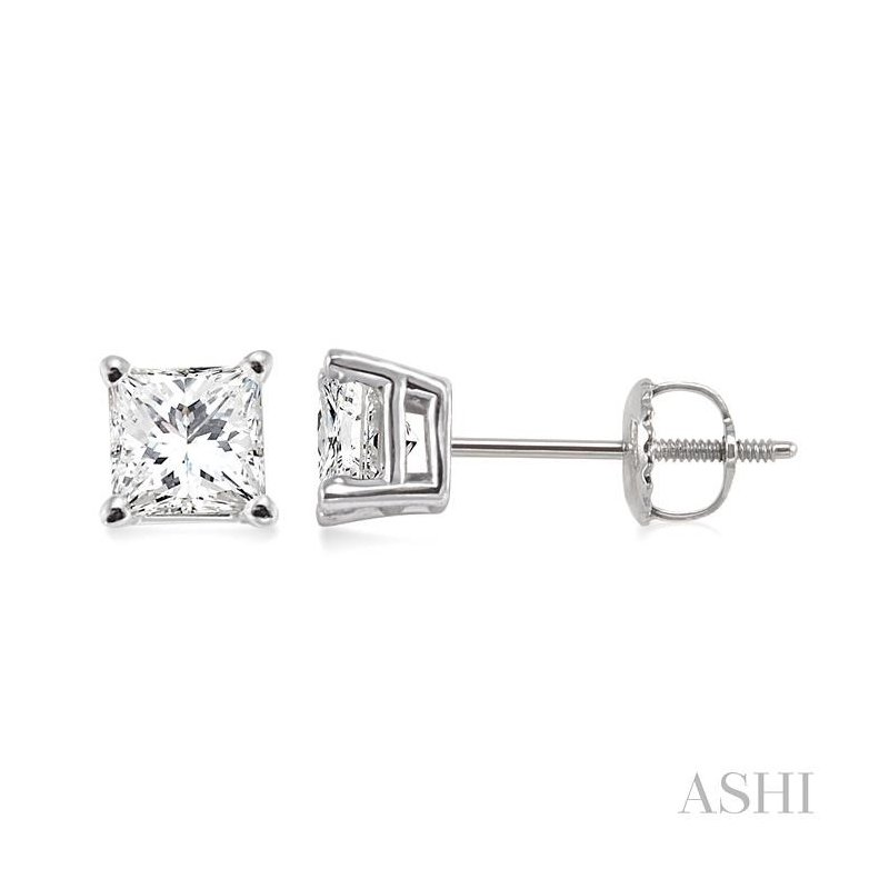 ASHI stud diamond earrings