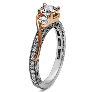 Round Cut Vintage Engagement Ring