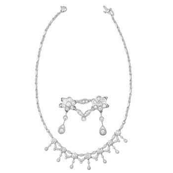 White Gold Pave Diamond Neck