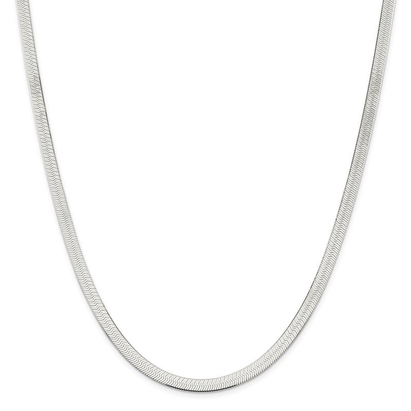 Quality Gold Sterling Silver 5.25mm Magic Herringbone Chain