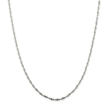 Sterling Silver 2mm Twisted Herringbone Chain