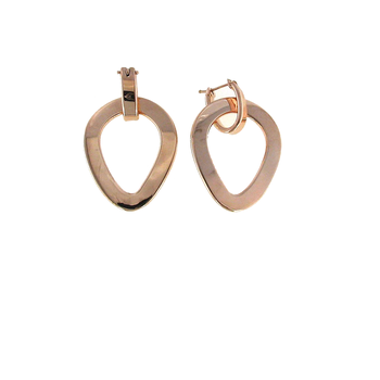 18Kt Rose Gold Tear Drop Earring