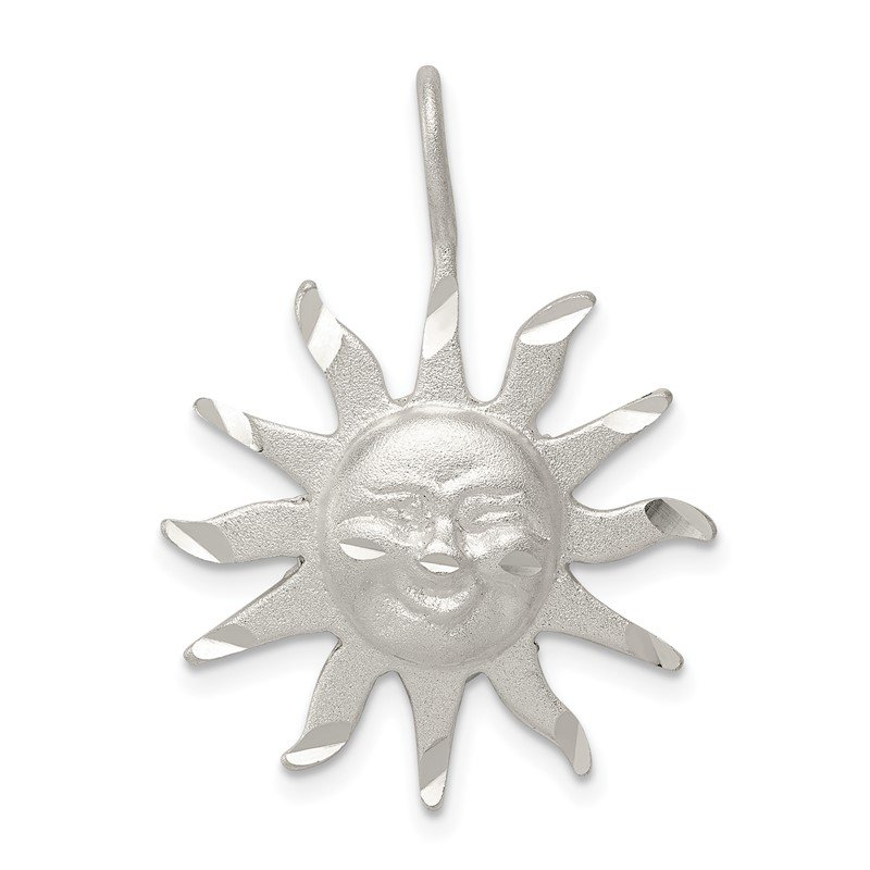 Quality Gold Sterling Silver Sun Pendant