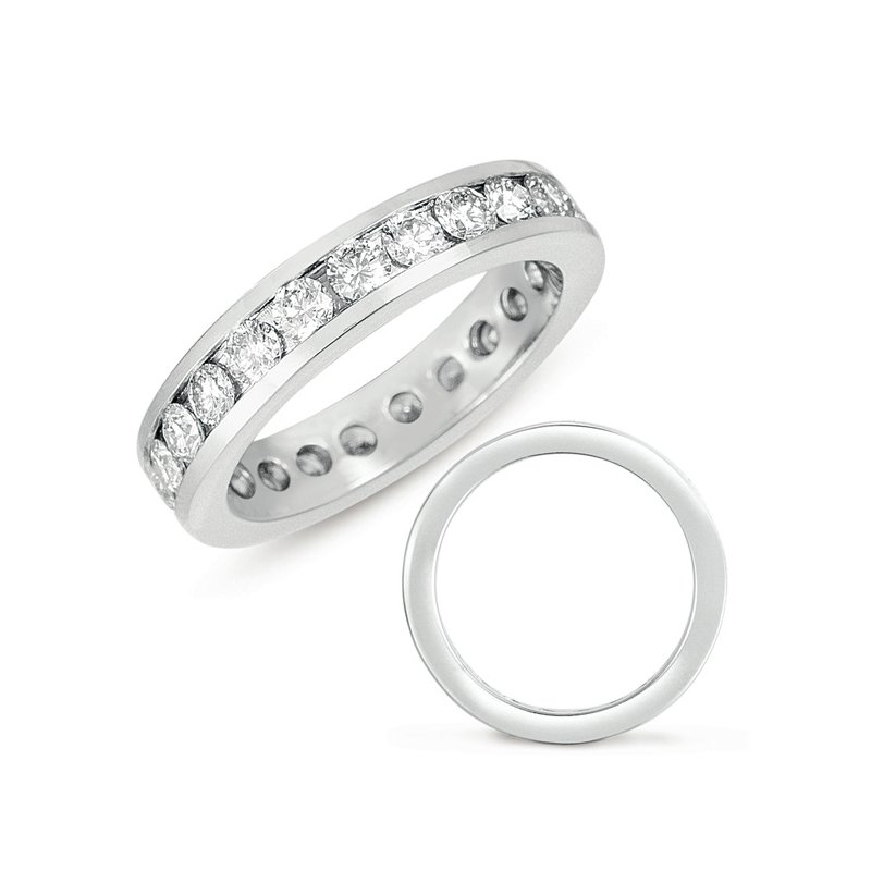 S. Kashi & Sons Bridal White Gold Eternity Channel