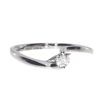 14K White Gold Bypass Diamond Ring