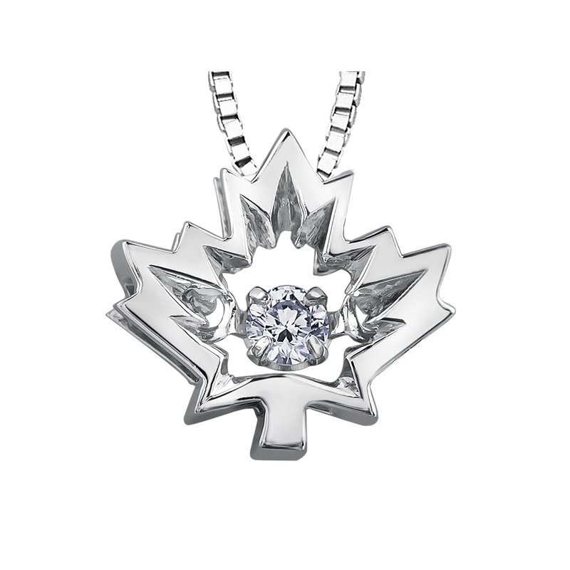 I Am Canadian Northern DancerDiamond Solitaire Pendant