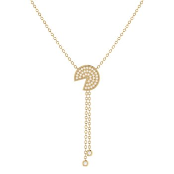 Pac-Man Candy Lariat Necklace in 14 KT Yellow Gold Vermeil on Sterling Silver