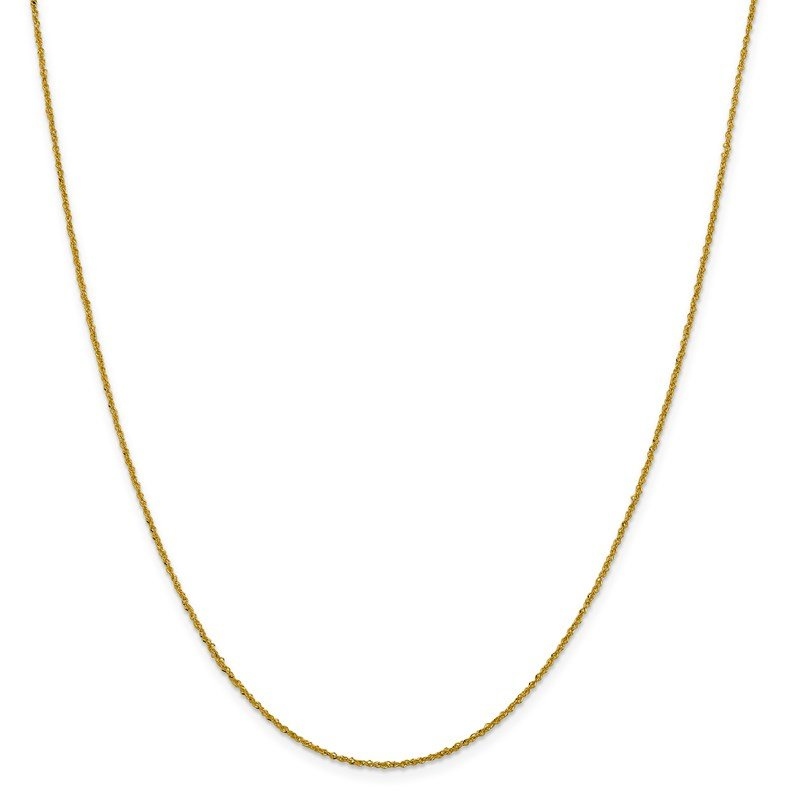 Leslie's Leslie's 14K 1 mm Sparkle Singapore Chain