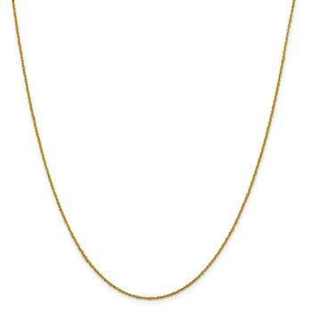 Leslie's 14K 1mm Sparkle Singapore Chain