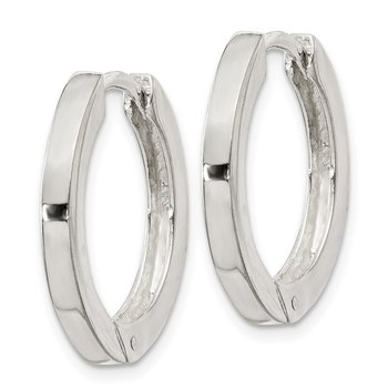 Sterling Silver 2.5x20mm Hinged Hoop Earrings