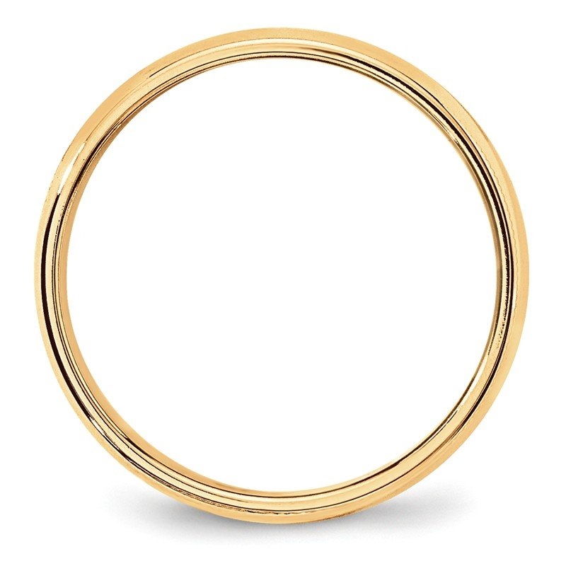 Quality Gold 14KY 6mm LTW Milgrain Half Round Band Size 10