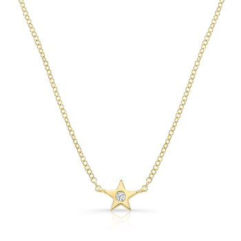 Yellow Gold Petite Star Necklace