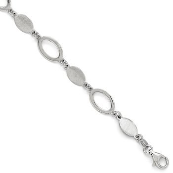 Leslie's Sterling Silver Polished & Brushed Bracelet