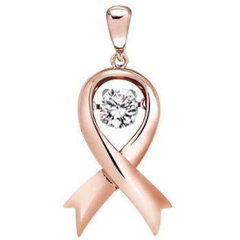 14K Diamond Rhythm Of Love Pendant 3/4 ctw ( 1/2 ct Ctr)