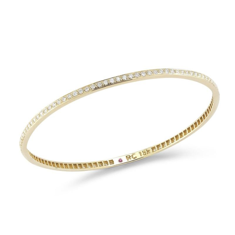 Roberto Coin Bangle With Diamonds &Ndash; 18K Yellow Gold