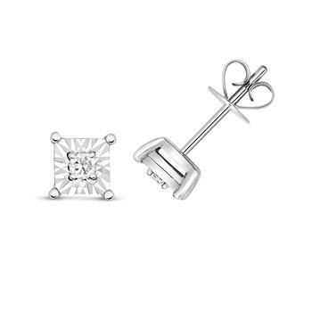Diamond Illusion Studs Square
