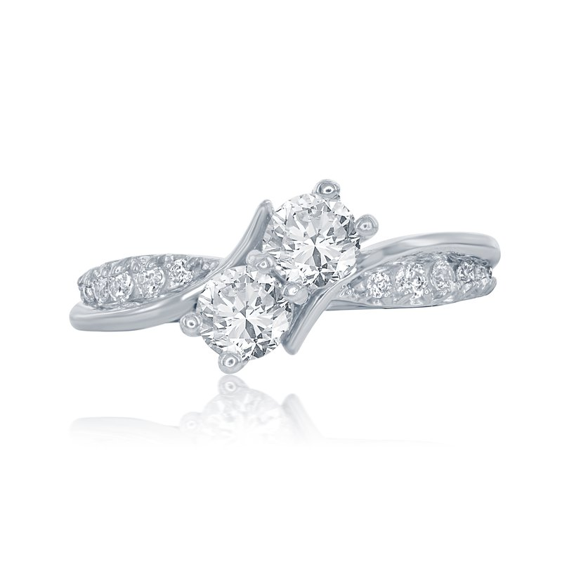 Veer WS - The Entwined Two Stone Ring