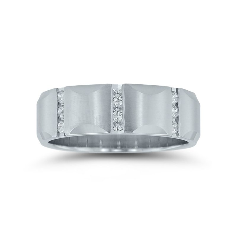 Novell Mens Diamond Wedding Band