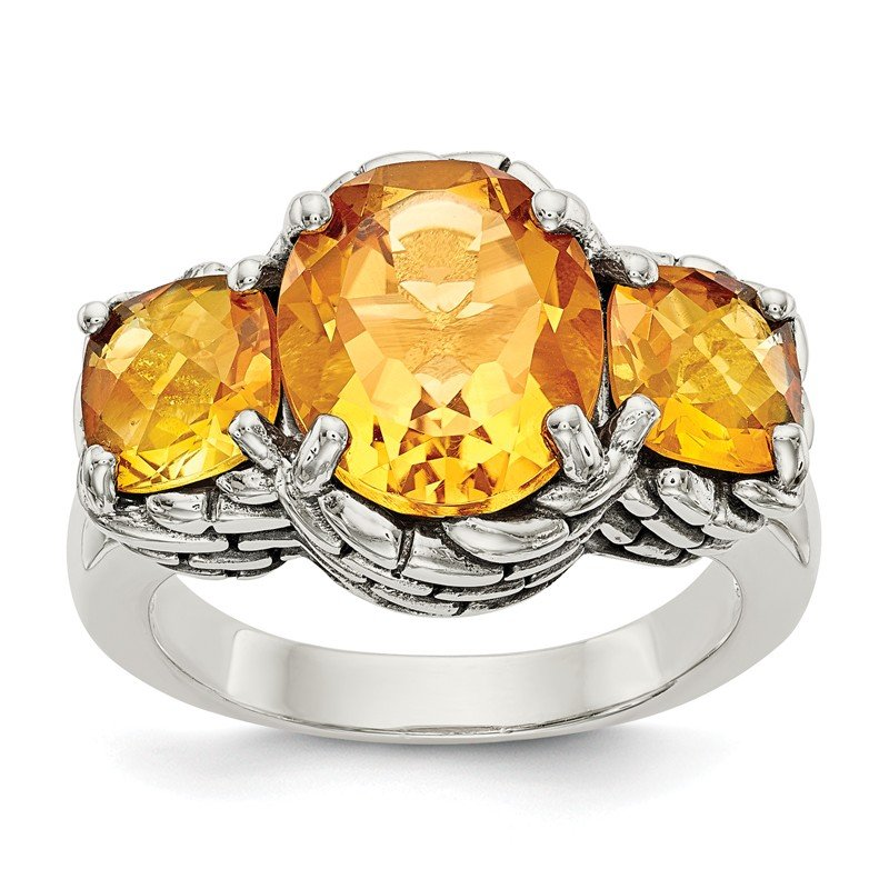 Shey Couture Sterling Silver Citrine Ring