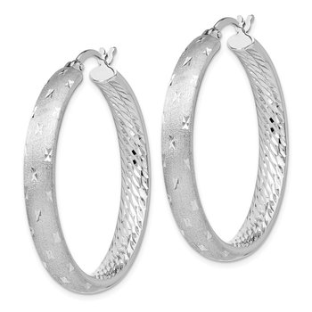 Leslie's Sterling Silver Rhodium In/Out D/C Earrings