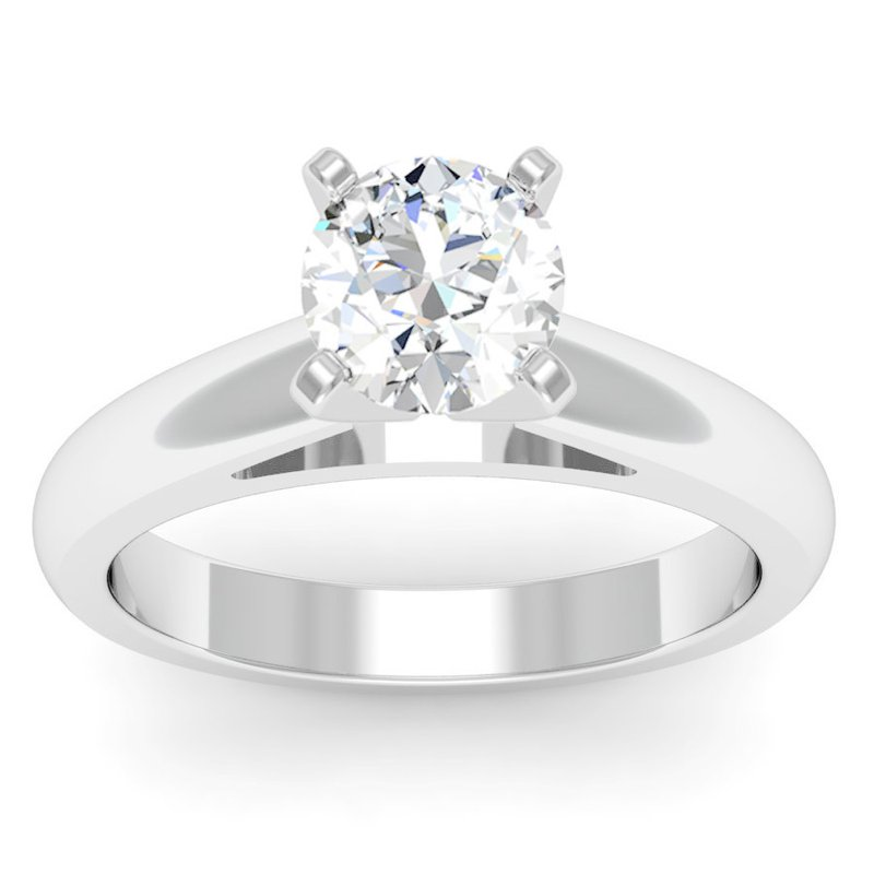 J.F. Kruse Signature Collection Rounded Cathedral Engagement Ring