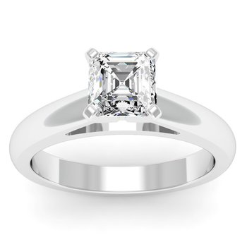 Rounded Cathedral Engagement Ring