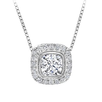 Halo Diamond Accent Pendant