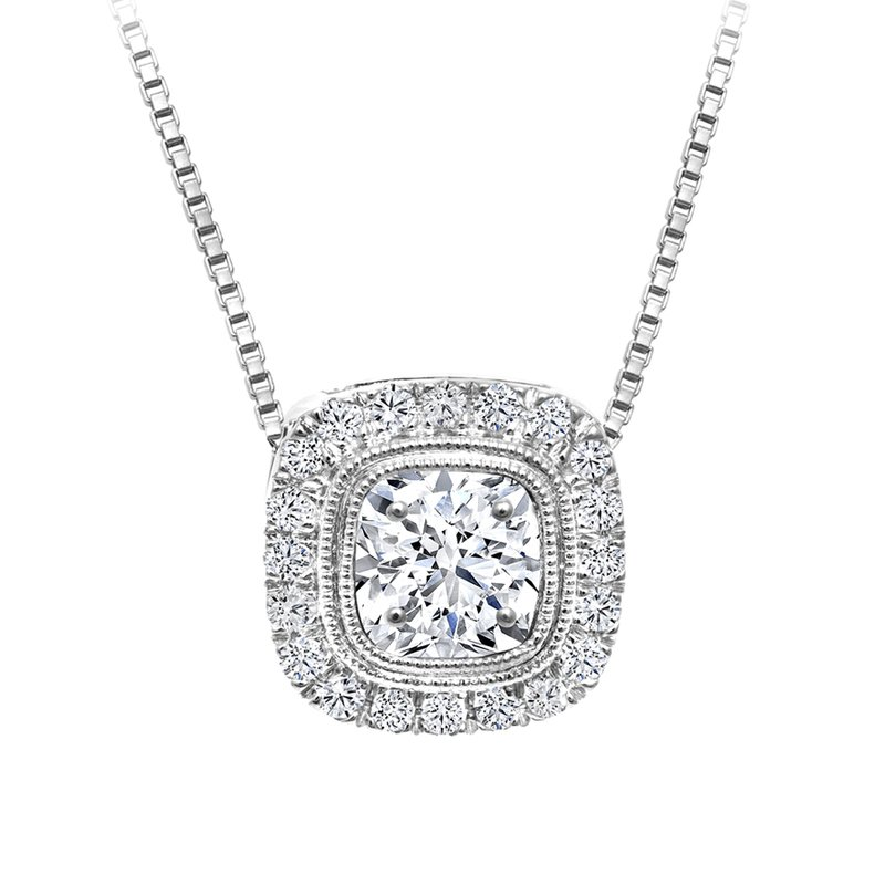 Canadian Rocks Halo Diamond Accent Pendant