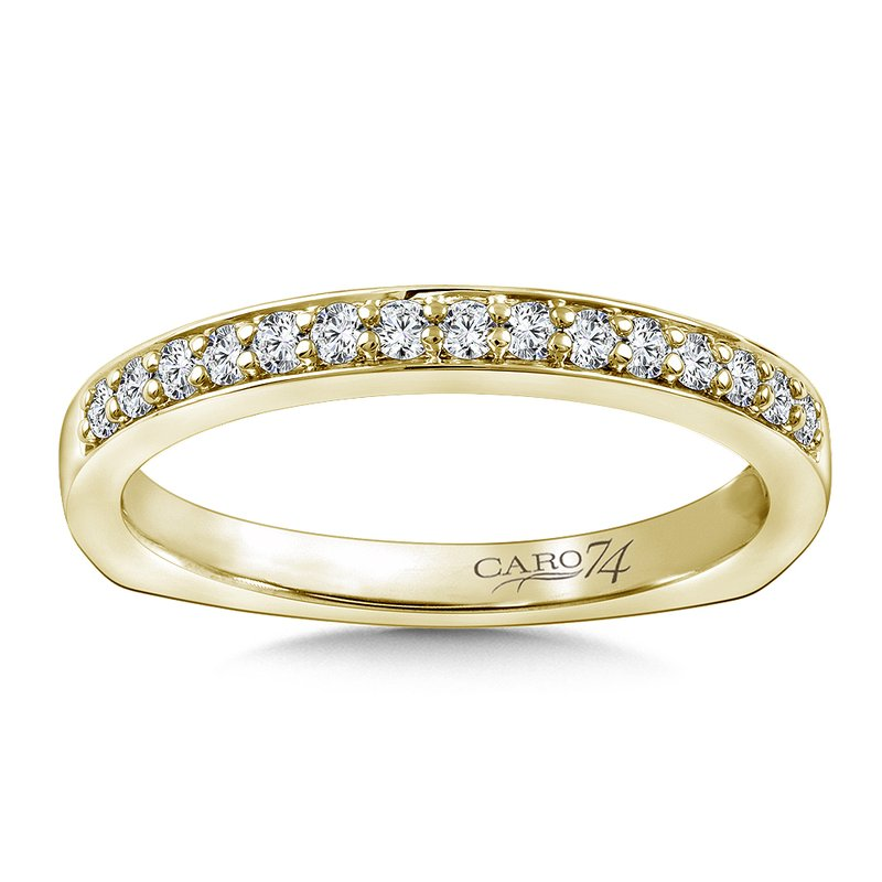 Caro74 Stackable Wedding Band in 14K Yellow(.20 ct. tw.)