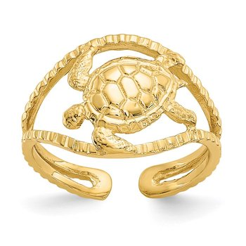 14k Turtle Toe Ring
