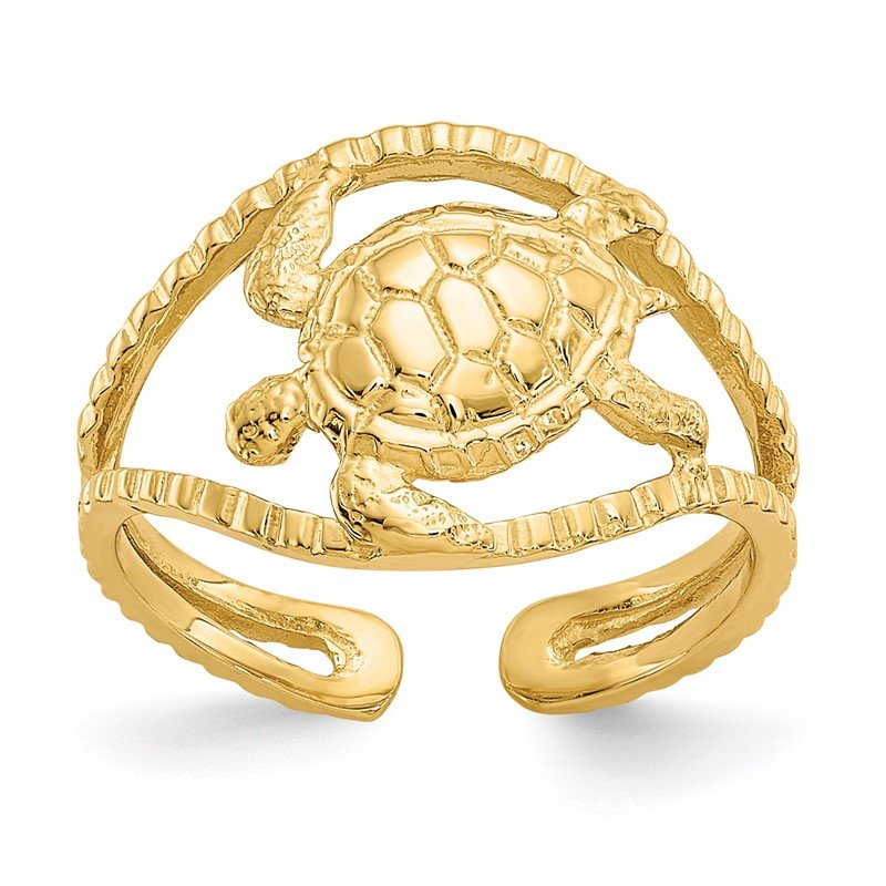Quality Gold 14k Turtle Toe Ring