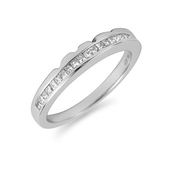 14K WG Diamond Band for Fascination