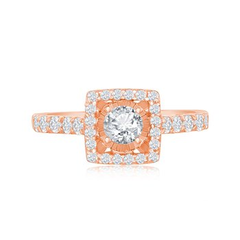 DIAMOND SHANK CUSHION MIRACLE RING