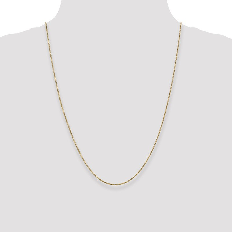 Quality Gold 14k .95mm Twisted Box Chain