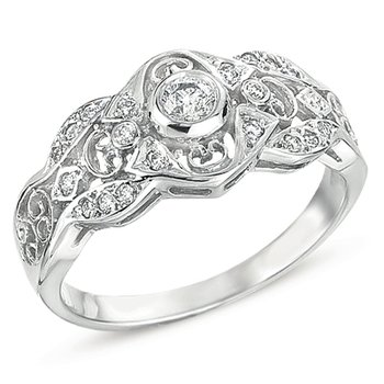 Antique White Gold Ring
